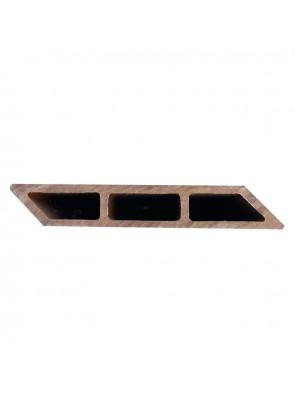 Σανίδα Περίφραξης Deck WPC 20x120x3600mm Λοξή Brown