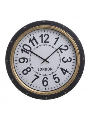 Ρολόι Τοίχου Μαύρο-Χρυσό IN ART 3-20-925-0022