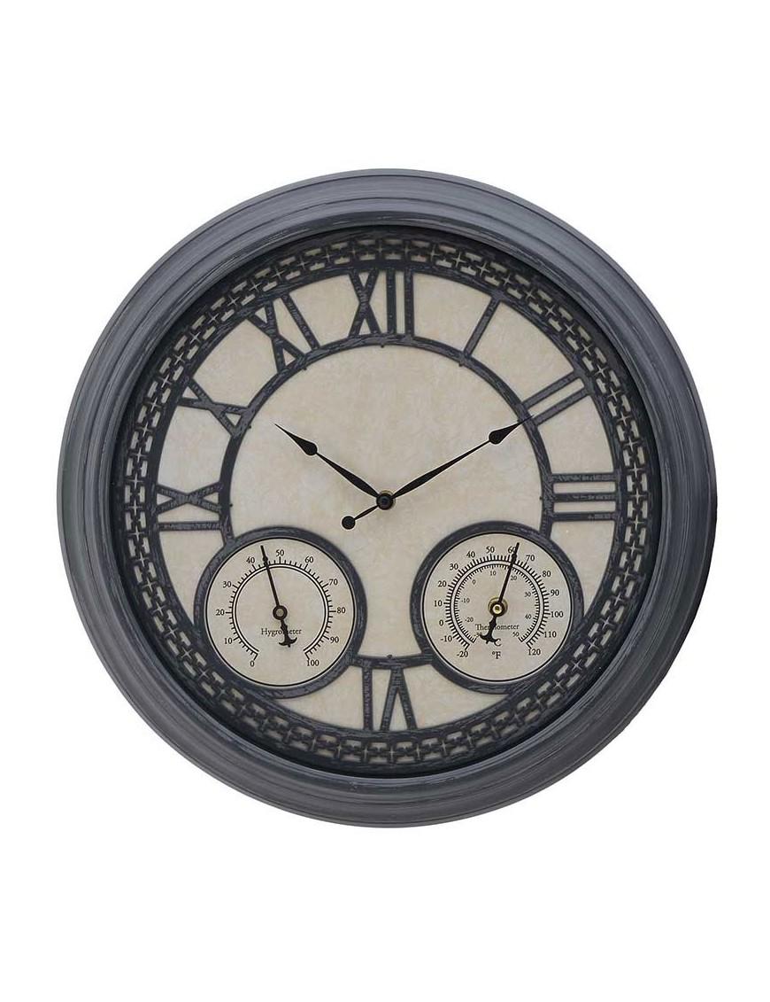 Ρολόι Τοίχου Αντικέ Γκρί-Εκρού INART  3-20-925-0012