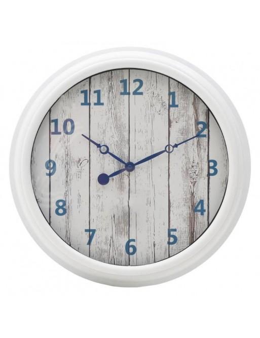 Ρολόι Τοίχου Μπλέ- Άσπρο INART  3-20-828-0095