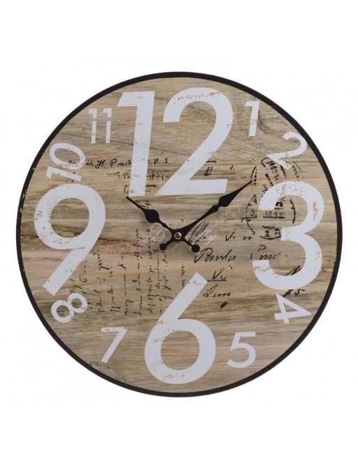 Ρολόι Τοίχου Ξύλινο Natural INART  3-20-977-0259