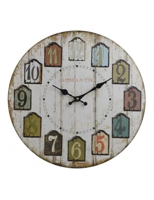Ρολόι Τοίχου Ξύλινο Αντικέ INART 3-20-977-0255