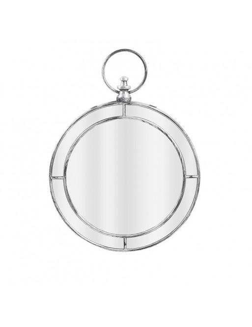 Καθρέπτης Τοίχου Αντικέ Ασημί INART 3-95-058-0043