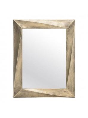 Καθρέπτης Τοίχου Ορθογώνιος Χρυσό Αντικέ INART   3-95-925-0008