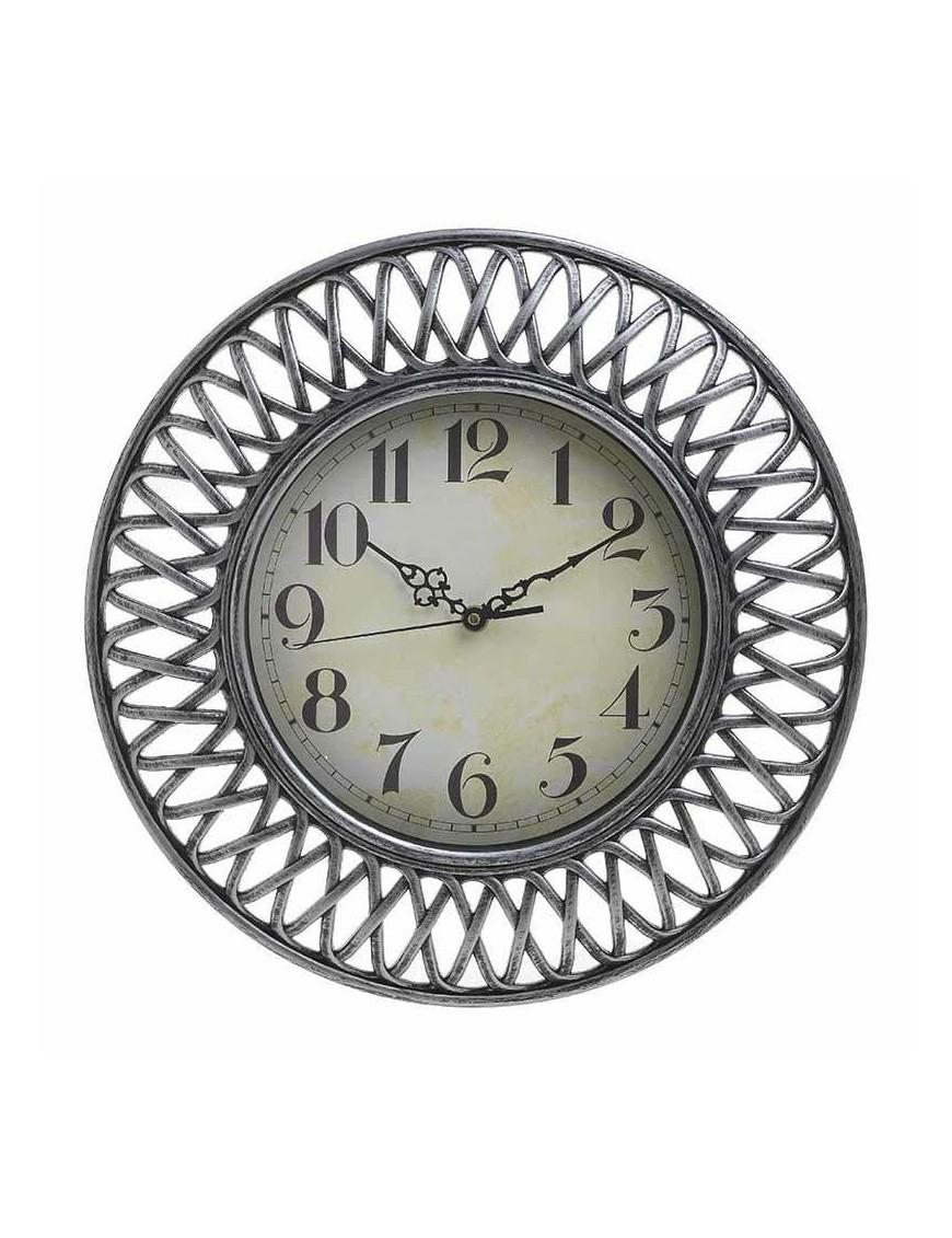 Ρολόι Τοίχου Ασημί Αντικέ INART 3-20-385-0067