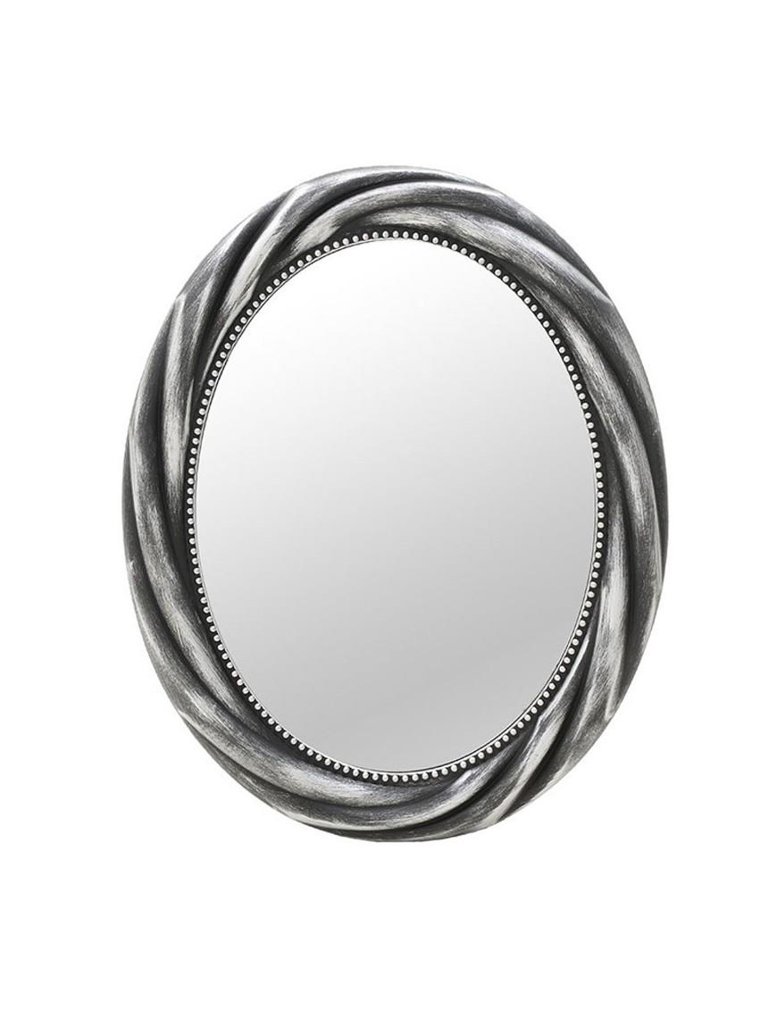 Καθρέπτης Τοίχου Γκρι/Ασημί Αντικέ INART 3-95-290-0009