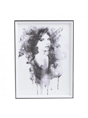 """Πίνακας Ξύλινος """"Γυναικεία Φιγούρα"""" 30Χ40 INART 3-90-763-0028"""