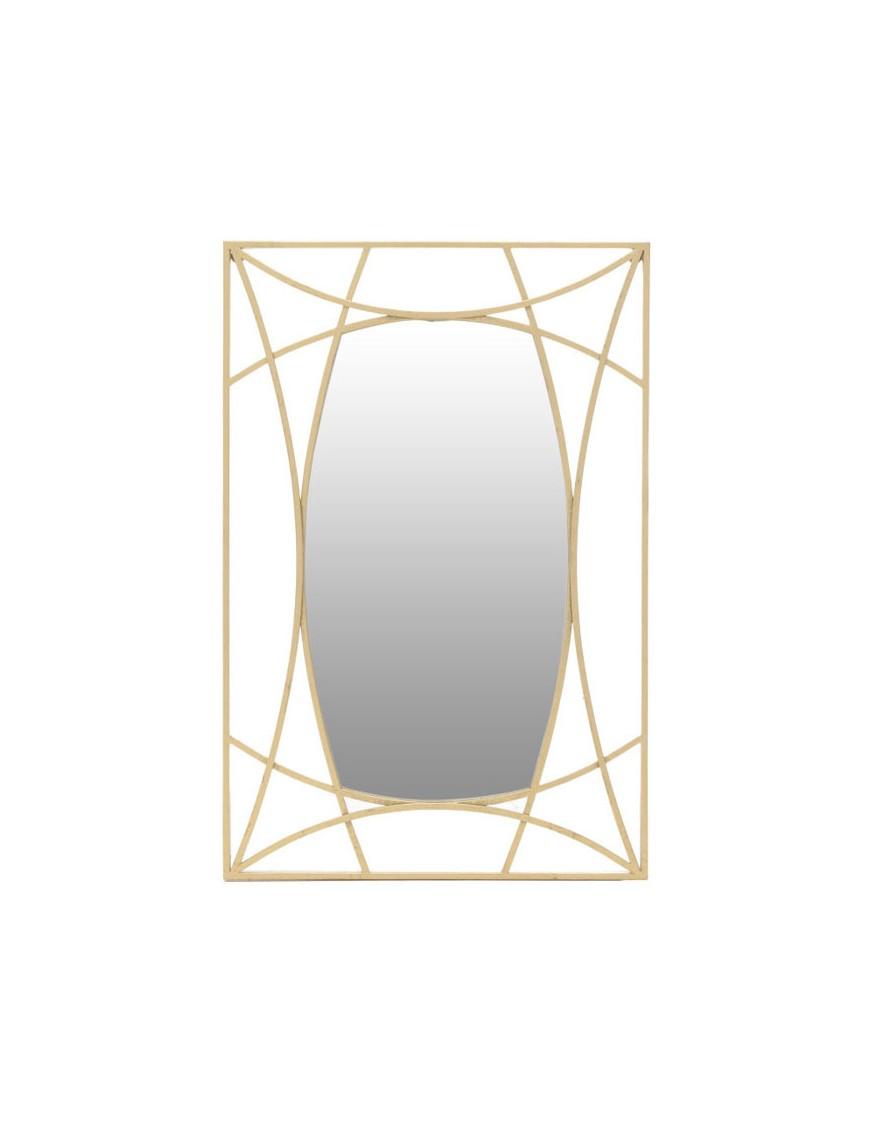 Καθρέπτης Τοίχου Μεταλλικός Χρυσός 60Χ90 INART 3-95-161-0010