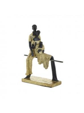 """Διακοσμητικό Επιτραπέζιο """"Οικογένεια"""" Μαύρο/Χρυσό INART 3-70-287-0046"""