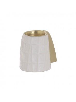 Κηροπήγιο Κεραμικό Λευκό/Χρυσό InArt 3-70-681-0111