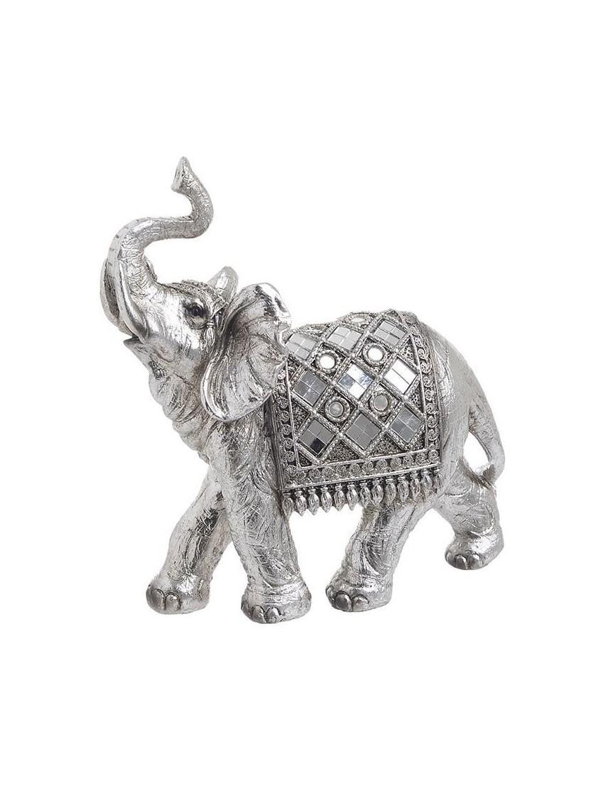 Διακοσμητικός Ελέφαντας Ασημί Polyresin InArt 3-70-547-0775