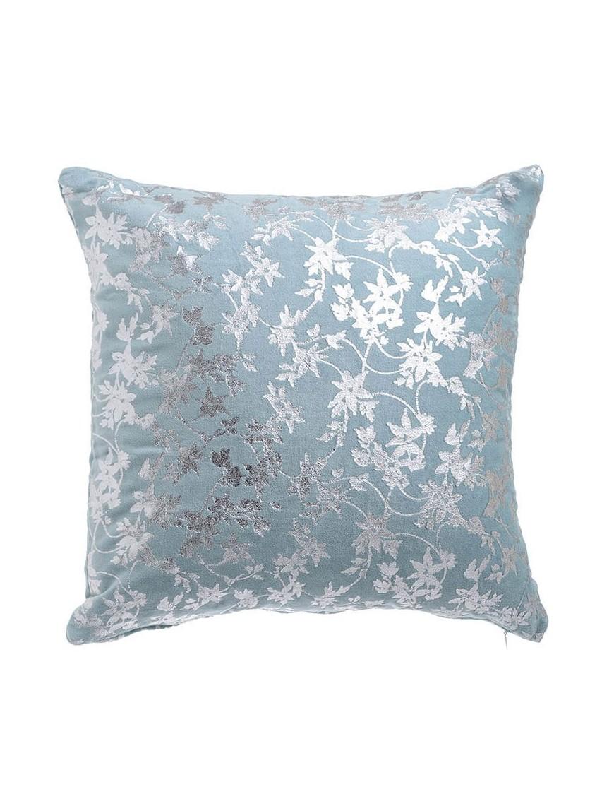 Μαξιλάρι Υφασμάτινο Γαλάζιο/ Ασημί 45x45 Inart 3-40-820-0027