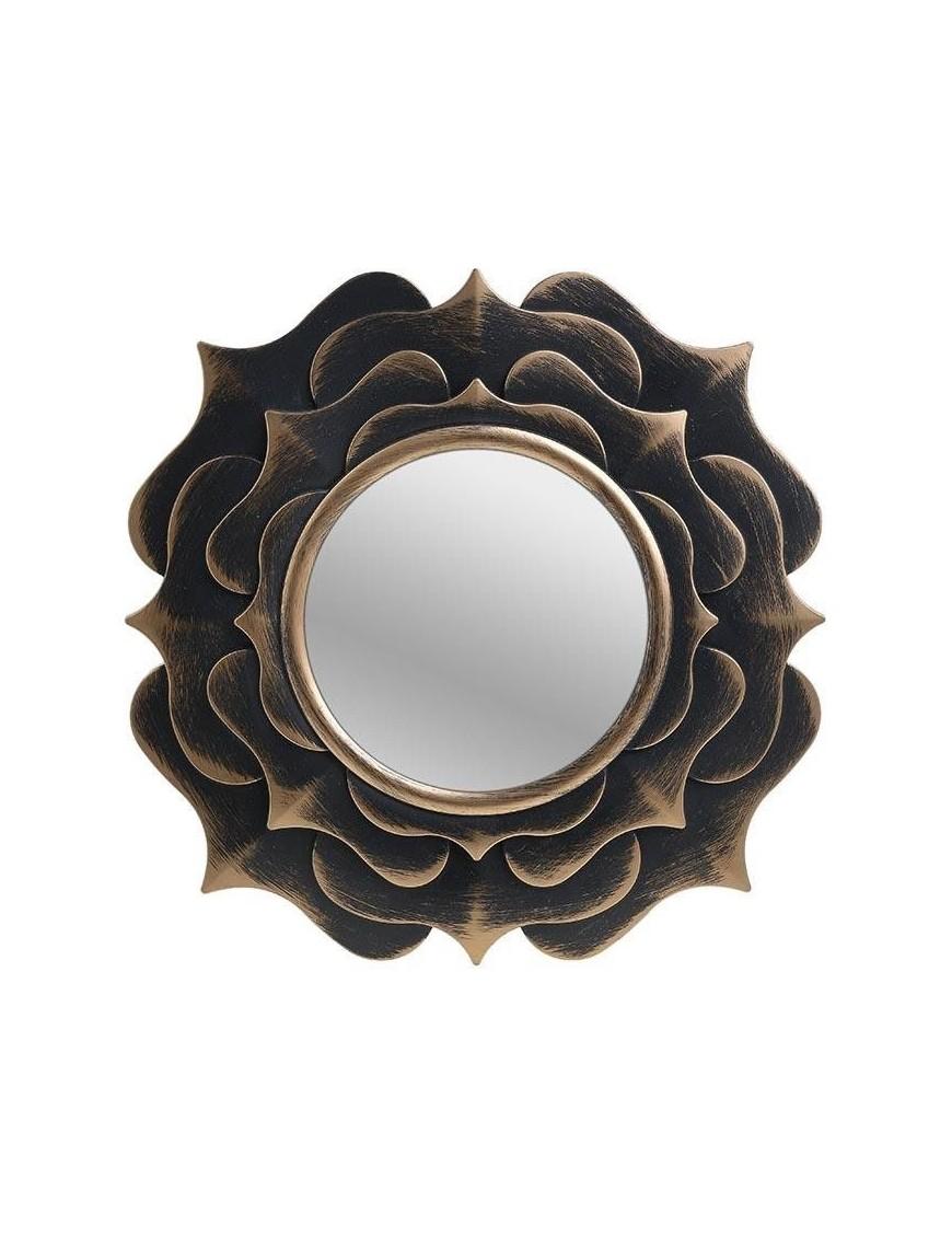 Καθρέπτης Τοίχου Πλαστικός Αντικέ Χρυσός/Μαύρος InArt 3-95-290-0037