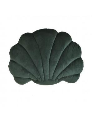 Μαξιλάρι Κοχύλι Βελούδινο Σκούρο Πράσινο 30x40 Inart 3-40-054-0026