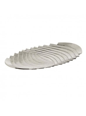 Διακοσμητική Πιατέλα Αλουμινίου Inart 3-70-742-0024