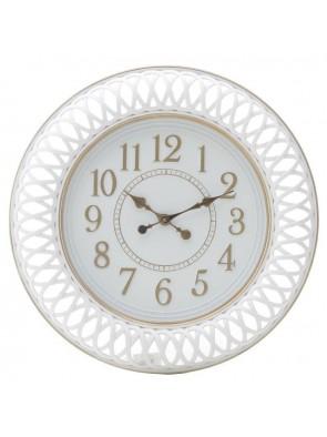 Ρολόι Τοίχου Πλαστικό Αντικέ Λευκό INART 3-20-828-0092
