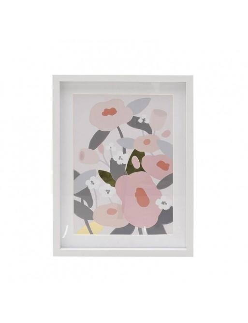 Πίνακας Printed Λουλούδια Πολύχρωμος 30x40 3-90-524-0010