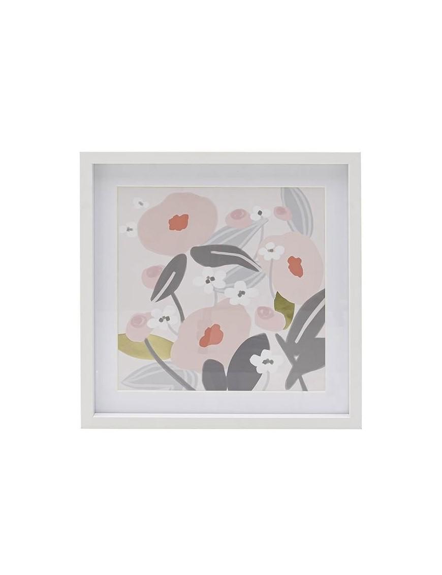 Πίνακας Printed Λουλούδια Πολύχρωμος 34x34  3-90-524-0011