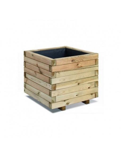 Ξύλινη Γλάστρα Τετράγωνη 28(Υ) x 30 x 30εκ. Showood 30064