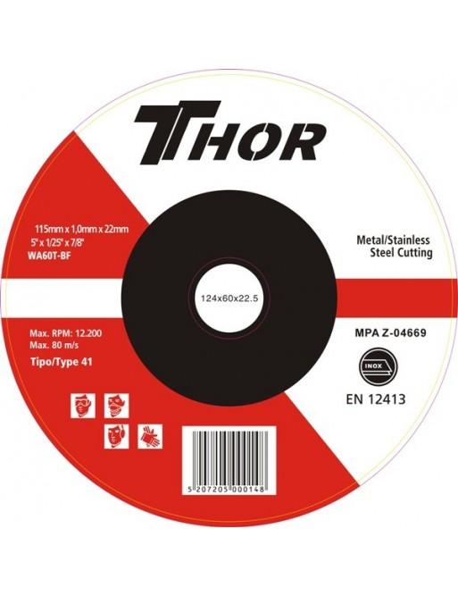 """Δίσκος Κοπής Thor 115x1"""""""