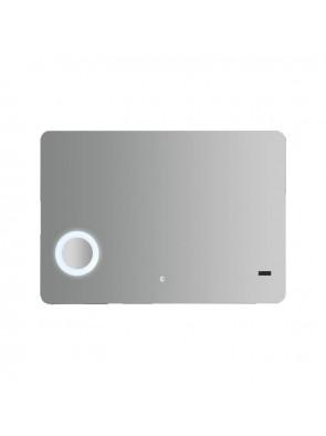 Καθρέπτης Μπάνιου Φωτιζόμενος Αφής Led Ρολόι Oceanica KDM064444