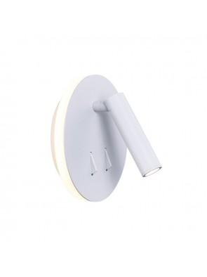 Απλίκα Διπλού Φωτισμού Εσωτερικού Χώρου Arona Λευκό Led 6W