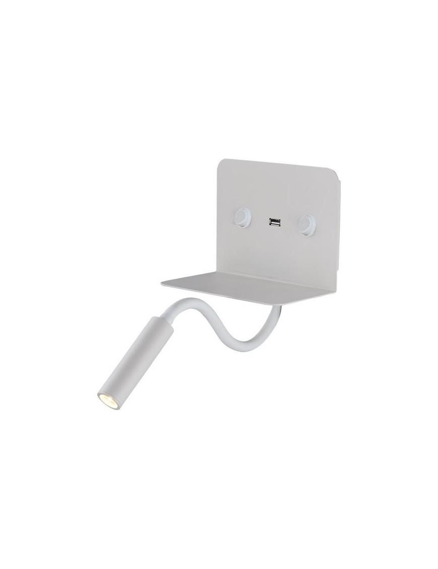 Απλίκα Διπλού Φωτισμού Εσωτερικού Χώρου με USB Santana Led 9W