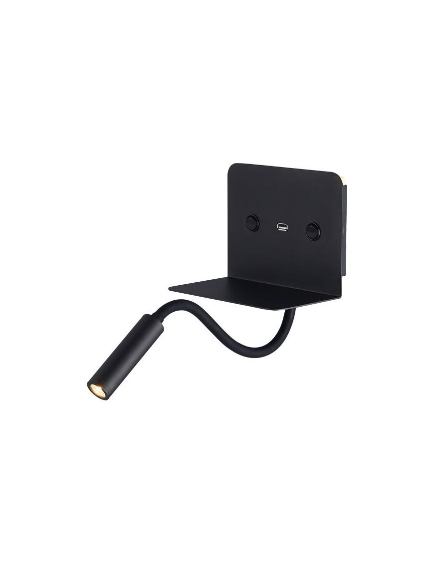 Απλίκα Διπλού Φωτισμού Εσωτερικού Χώρου με USB Brava Led 9W