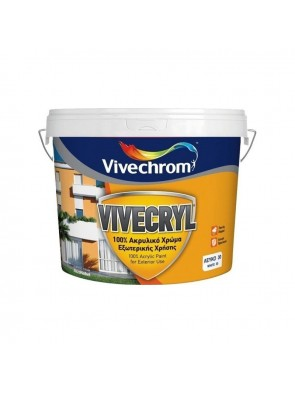 Πλαστικό χρώμα Vivechrom Super Neopal 10lt Λευκό